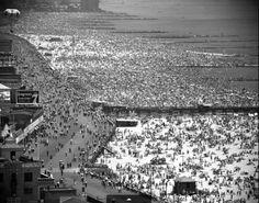 Coney Island, July 4, 1949. `Vintage b&w photo NYC