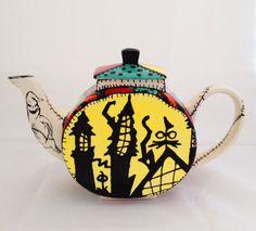 Nightmare Before Christmas Inspired Tea Pot: by MineByDesignStudio