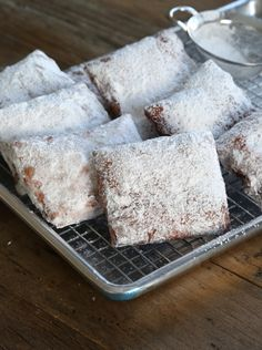 New Orleans-Style Gluten Free Beignets - Gluten Free on a Shoestring. || Yay! I can make these gluten free! xD <33