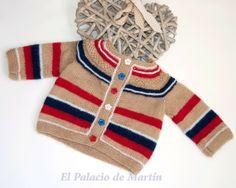 Chaqueta punto recién nacido  de El Palacio de Martín por DaWanda.com