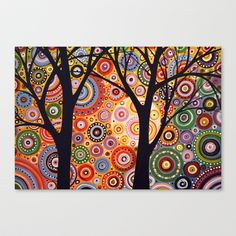 Landscape Original Trees Abstract Painting ready by AmyGiacomelli Mirror Box, Art Inspiration Drawing, Abstract Styles, Artist Painting, Original Paintings, Tree Paintings, Abstract Landscape, Art Projects, Project Ideas