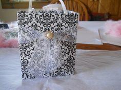 Unique handmade damask gift bag great for bridal by steppnout, $4.00