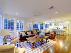 Stunning Sunday: Hamptons Home Hamptons House, The Hamptons, Love Home, Open Plan Living, New Homes, Lounge, House Design, Living Room, Interior Design