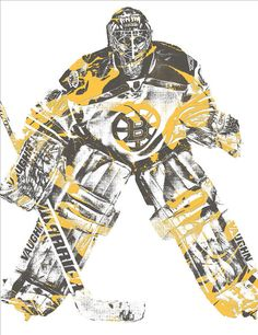 Tuukka Rask BOSTON BRUINS PIXEL ART 3 Art Print by Joe Hamilton. All prints are professionally printed, packaged, and shipped within 3 - 4 business days. Sports Art, Sports Teams, Joe Hamilton, Thing 1, 3 Arts, Boston Bruins, All Art, Pixel Art, Nhl