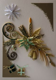 Quilling - beautiful glitter quilled flowers