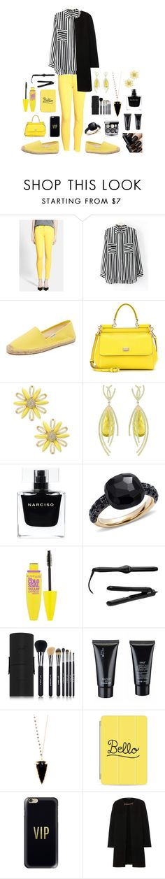 """Sans titre #18"" by josefina-deveci ❤ liked on Polyvore featuring beauty, 7 For All Mankind, Soludos, Dolce&Gabbana, Kate Spade, Arya Esha, Narciso Rodriguez, Pomellato, Maybelline and Lorion"