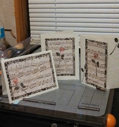 handmade cards, music and roses