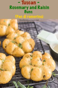 Traditionally served during Easter, 'Pan di ramerino' or Tuscan Rosemary and Raisin buns are quite easy to make. Prepare and enjoy these deliciously-sticky and shiny buns at home! Bread   Italian   Tuscany   Recipe   Sweet bread. #breadrecipe #italianrecipes #authenticitalian #italianfood #easter #lent #easterrecipes
