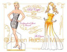 Temporada de premios de la Academia Red Carpet 2012 por PaperDollsbyERMiller