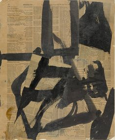 Franz Kline (American, 1910-1962). Untitled II, ca. 1952. Ink and oil on cut-and-pasted telephone-book pages on paper on board. 11 x 9 in. (28.1 x 23 cm). Purchase. The Museum of Modern Art, New York.