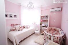 Quarto de bebê feminino rosa floral - Você vai se surpreender com esse quarto de bebê feminino rosa floral, ele foge do normal em uma decoração moderna.