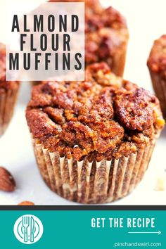 Enjoy these easy Almond Flour Muffins for a healthy and portable breakfast or snack! They are naturally sweetened with ripe banana, dates and cinnamon! A perfect recipe for those on gluten free and paleo diets! #almondflourmuffins #healthyalmondflourmuffins Make Almond Flour, Almond Flour Muffins, Easy Desserts, Dessert Recipes, Banana Oatmeal Cookies, Gluten Free Muffins, Afternoon Snacks, Almond Recipes, Healthy Breakfast Recipes
