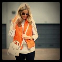 Bright orange puffy vest! Bring your preppy wardrobe to life with this really warm, down feather puff vest! Arizona Jean Company Jackets & Coats Puffers