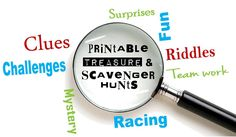 Printable Treasure Hunt Riddles, Clues, and Games!