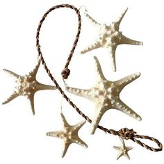 Vintage Starfish & Rope Garland ($75) ❤ liked on Polyvore featuring home, home decor, decorative objects, vintage home decor and vintage home accessories