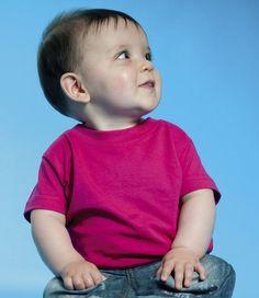 Larkwood Baby/Toddler T-Shirt Boys Girls Short Sleeve 100% Cotton Crew Neck Top