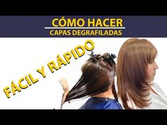 CORTE DEGRAFILADO/ PARA ROSTRO REDONDO FACIL..DEGRAFILATED CUT / FOR EASY ROUND FACE. - YouTube Hair Ideas, Easy, Youtube, Layered Cuts, Short Hairstyles, Gradient Hair, Chic Haircut, Hair Tutorials, Youtubers
