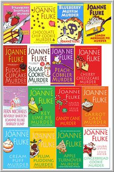 "Murder She Baked Series featuring Hannah Swenson from Joanna Fluke. Great ""happy books"" easy reads with fun, funny characters."