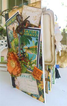 Graphic 45 tropical travelogue album - Scrapbook.com