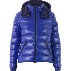 France Moncler Bady Quilted Hooded Blue Jacket Women On Sale