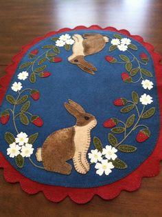 First penny rug I ever made