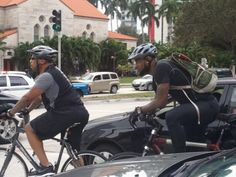 LeBron James riding his bike to the game