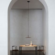 Making up an integral part of the architecture, but with its own personality in the overall design, the Aplomb wall lamp is made with a special concrete that releases a dual lighting effect, upwar Foscarini, Led Wall Lights, Light, Hanging Lights, Pendant Light, Led, Lamp, Concrete Lamp, Led Pendant Lights