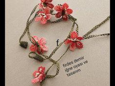 kiraz çiçeği gözlük zinciri iğne oyası ile yapılışı - YouTube Crochet Flower Tutorial, Crochet Flowers, Crochet Wallet, Couture Sewing Techniques, Brazilian Embroidery, Tatting, Diy And Crafts, Crochet Necklace, Hair Accessories