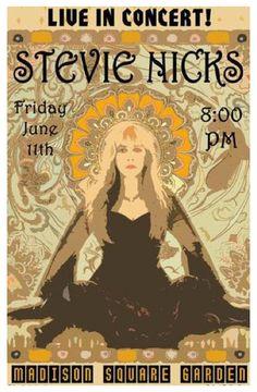 Classic rock concert psychedelic poster - Stevie Nicks - love her music, love her style Stevie Nicks Concert, Concert Rock, Fleetwood Mac, Vintage Concert Posters, We Will Rock You, Pop Rock, Rock Posters, New Wall, Playlists