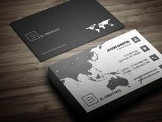 Creative Map Business Card by bouncy on Creative Market