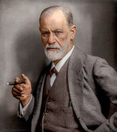 The father of psychoanalysis Sigmund Freud. The Austrian researched cerebral palsy, aphasia, and microscopic neuroanatomy. Grace Kelly, Dr Sigmund Freud, Colorized Historical Photos, Whitney Young, Black N White Images, Black And White, University Of Vienna, Portraits, Portrait Photo