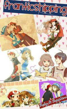 Franticshipping ruby and sapphire Pokemon Manga, Pokemon Red, Pokemon Fan Art, Pokemon Couples, Pokemon People, Pokemon Game Characters, Pokemon Games, Sapphire Pokemon, Ruby Sapphire