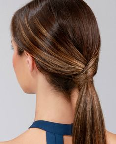 Low Ponytail With Scarf Tutorial Lulus Com Fashion Blog Job Interview Hairstyles Interview Hairstyles Hair Styles