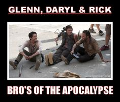 Glenn, Daryl, & Rick, The Walking Dead