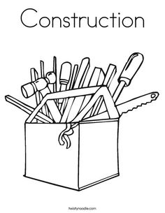 tools to color pictures | construction_tools_coloring_pages_013 ... - Tools Coloring Pages Screwdriver