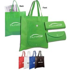 Non-Woven Fold 'n Go Tote Bag - Velcro Closure; Promotional Giveaways, Promotional Events, 1000 Books Before Kindergarten, Go Logo, Advertising Slogans, Non Woven Bags, Quality Logo Products, Custom Tote Bags, Jute Bags