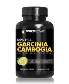 Garcinia Cambogia Extract Pure HCA 65%; 500mg Liquid Softgel available in 90 and 180 Capsules; Natural Appetite... $19.95 (50% OFF)