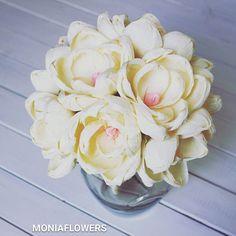 MAGNOLIA BRIDE paper flowers Wedding bouquet crepe paper