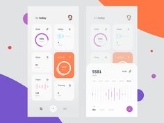 Fitness Activity Tracker Dashboard designed by Cuberto. Connect with them on Dribbble; the global community for designers and creative professionals. Ui Design Mobile, App Ui Design, Dashboard Design, Interface Design, Flat Design, User Interface, Icon Design, Fitness Tracker App, Fitness Activity Tracker