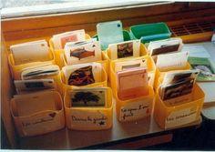 Le dictionnaire à l'école primaire -  Idée de rangement pour des étiquettes de production d'écrits (cf images mysticlolly)