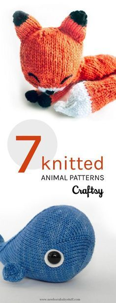 Baby Knitting Patterns We dare you to look a knitted animal in the eye without hugg...