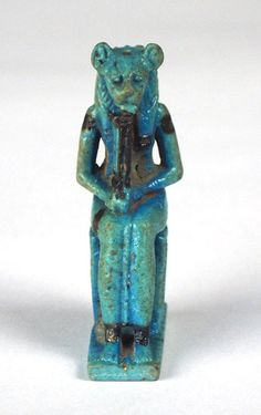 faience amulet cat goddess, Bastet possibly new Kingdom, 1550 B. Cats In Ancient Egypt, Ancient Egyptian Art, Ancient Goddesses, Gods And Goddesses, Cairo, Pyramids Egypt, Mother Goddess, Virtual Art, Ancient Civilizations