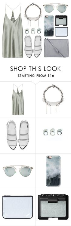 """Summer dress"" by eva-jez ❤ liked on Polyvore featuring T By Alexander Wang, Venna, Alexander Wang, Christian Dior, Casetify, Kenzo and NARS Cosmetics"