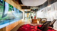 REA Group Melbourne by futurespace Corporate Office Design, Corporate Interiors, Office Interiors, Commercial Interior Design, Office Interior Design, Commercial Interiors, Showroom Design, Showroom Ideas, Lounge Design