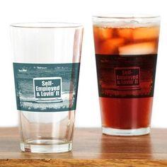 Self employed Drinking Glass