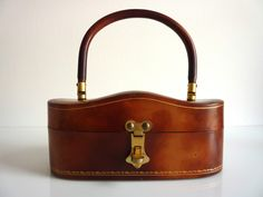 Italian Molded Leather Box Purse
