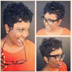 33 Latest Short Curly Hairstyles for New Season - Street Style Inspiration Short Curly Wigs, Short Hair Cuts, Pixie Cuts, Short Pixie, Short Perm, Short Curls, Trending Hairstyles, Hairstyles Haircuts, Hairdos