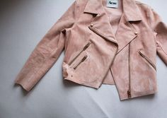 Blush suede jacket by Acne