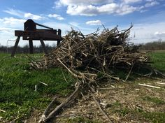 Traditional #hemp brake with a 2014 Kentucky fiber crop ready for processing. #HempHistory #processing #industrialhemp #manufacture #fiber #crop #hemp #heritage #culture #agriculture #farm