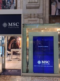 Temporary Store MSC Crociere, Milano Centrale